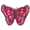 Motif Beaded with brooch/Pin Butterfly Fuchsia